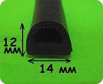 уплотнитель резиновый 10х12 мм