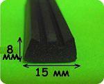 уплотнитель резиновый 8х15 мм