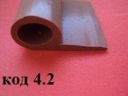 Уплотнитель силиконовый Р-образный 15 х 20 мм