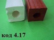 Профиль уплотнительный термостойкий 15х15мм