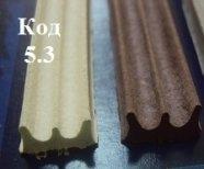 Резиновый уплотнитель самоклеющийся 9 х 4 мм