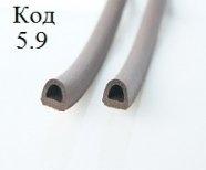 Резиновый уплотнитель самоклеющийся 12 х 10 мм