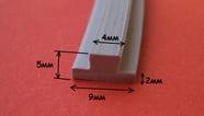 Уплотнитель термостойкий 5х5 мм 5х9 мм