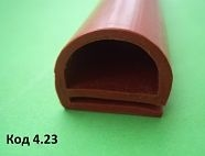 967,Уплотнитель термостойкий для печи Wiesheu Euromat 18х21мм