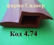 971,Уплотнитель термостойкий для печи Восход муссон-ротор